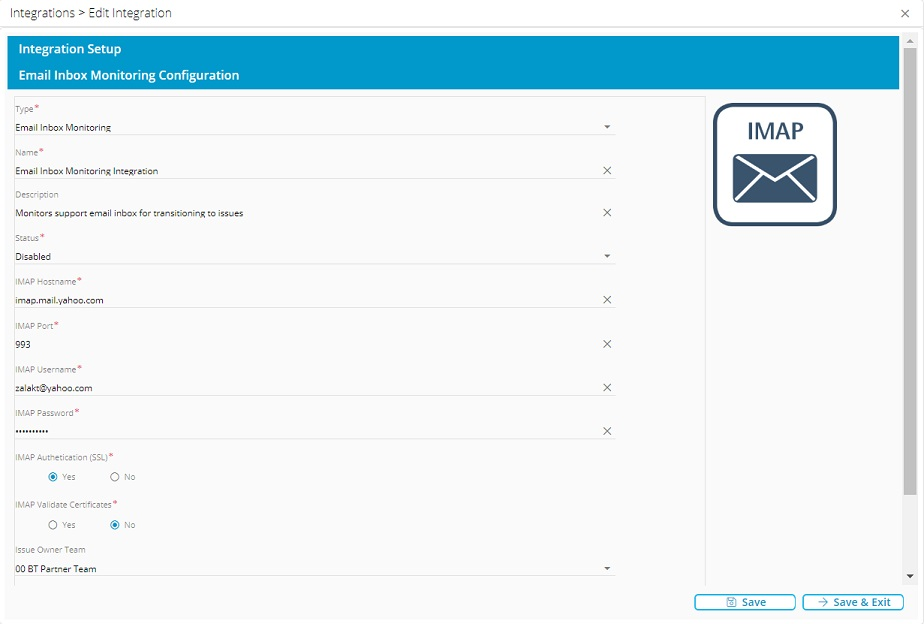 Setting up the Email Inbox Monitoring integration in Relay.