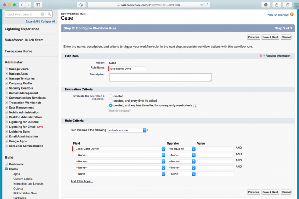 Setting up Custom Fields in Salesforce.