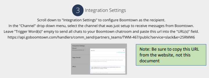 Step 3 of the Slack Integration.