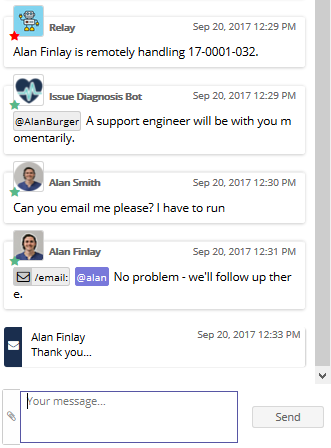 Email Support in Chat
