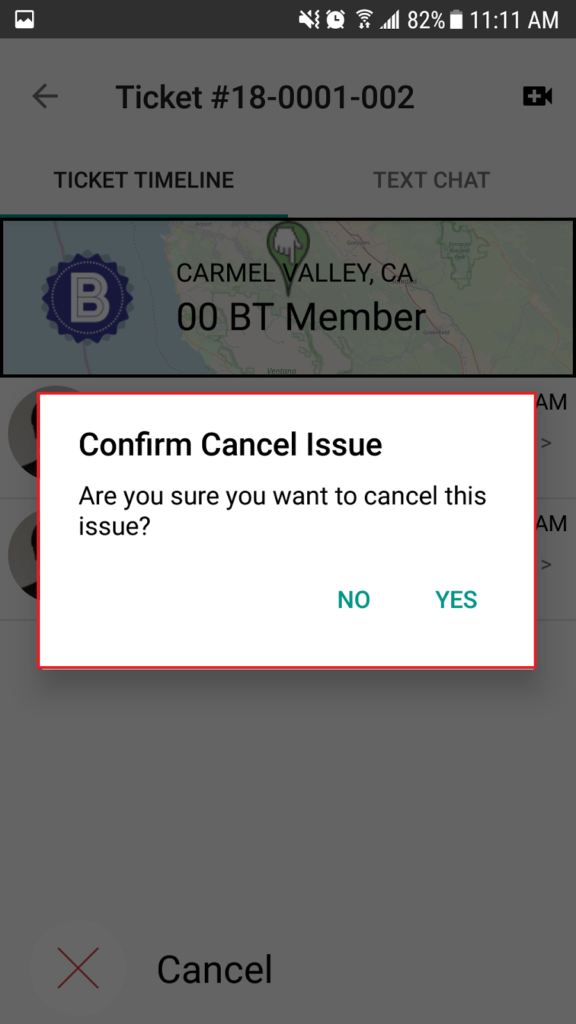 Boomtown Connect Cancel Notification