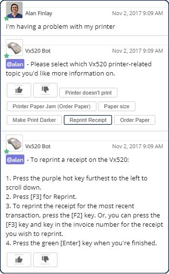 Vx520 Bot Conversations