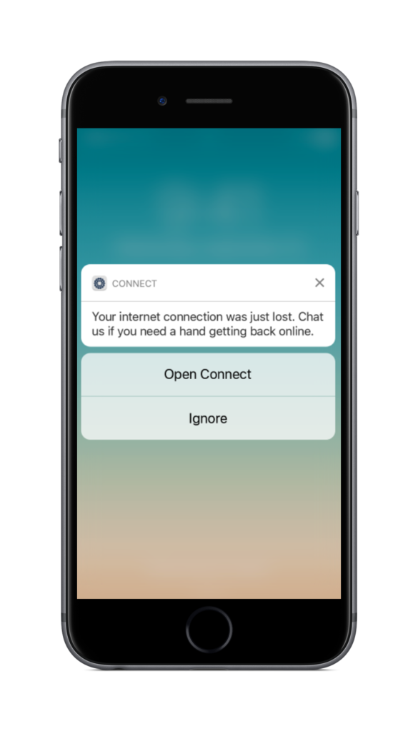 Onsite Intelligence Connect Notification