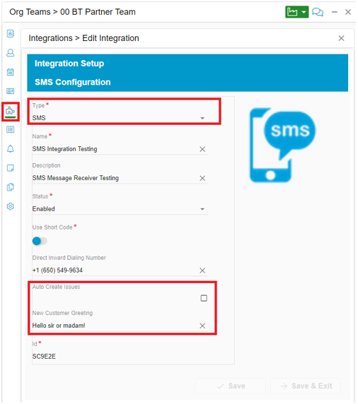 Relay SMS Integration