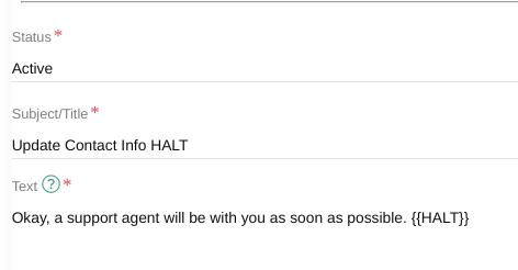 Relay Update Info Halt