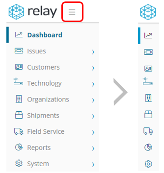 Relay left nav