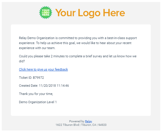 Customer Survey Email Relay